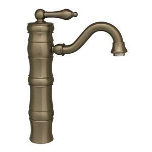 Whitehaus Collection Vintage III Elevated Bath Faucet - Brushed Nickel
