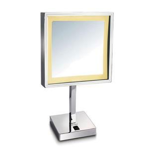 Whitehaus Collection Freestanding Makeup Mirror - LED - Chrome