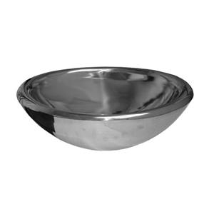 Whitehaus Collection Oval Bathroom Sink - 21.5-in x 14.74-in - Stainless Steel