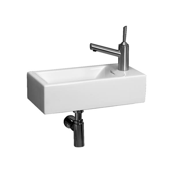 Whitehaus Collection Wall Mount Bathroom Sink - 19.75-in x 9.9-in - White