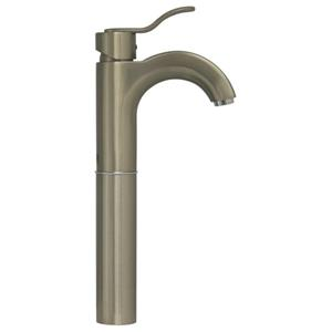 Whitehaus Collection Wavehaus Elevated Bath Faucet - Brushed Nickel