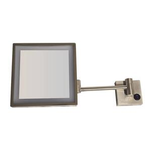Whitehaus Collection Wall Mounted Mirror - LED - Brushed Nickel