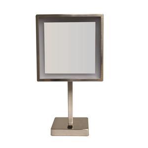 Whitehaus Collection Freestanding Makeup Mirror - LED - Nickel