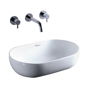 Whitehaus Collection Oval Porcelain Bathroom Sink - 23.25-in x 15.75-in - White