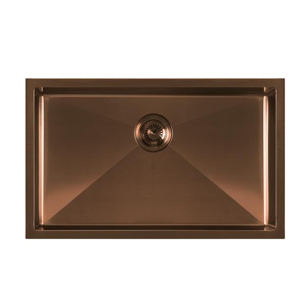 Whitehaus Collection Dual Mount Kitchen Sink Set - Single Bowl - Copper