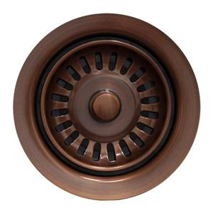 Whitehaus Collection Disposer Trim with Matching Strainer - Antique Copper