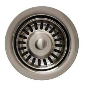 Whitehaus Collection Disposer Trim with Matching Strainer - Brushed Nickel