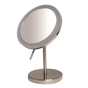 Whitehaus Collection Freestanding Round Mirror - LED - Chrome