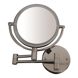 Whitehaus Collection Round Wall Mounted Mirror - Brushed Nickel