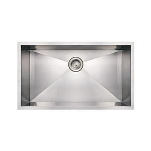 Whitehaus Collection Commercial Undermount Sink -Rectangle Single Bowl -Stainless