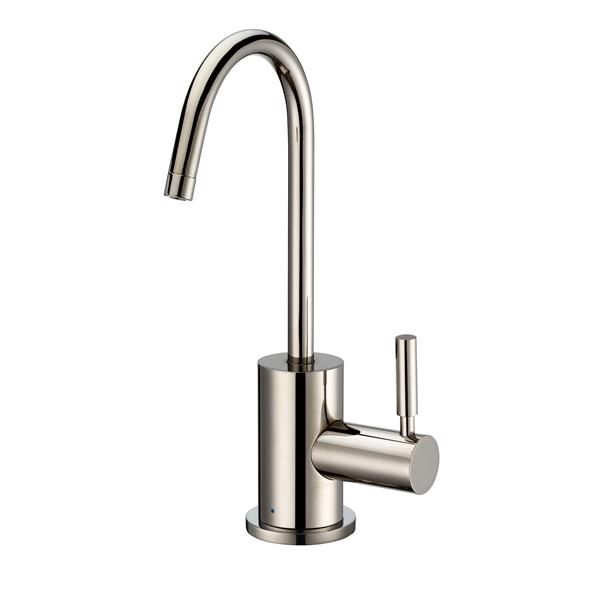 Whitehaus Collection Modern Cold Water Faucet - 1-Handle - Polished Nickel