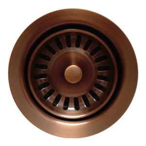 Whitehaus Collection Disposer Trim for Deep Fireclay Sinks - Antique Copper
