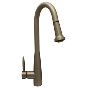 Single Handle Kitchen Faucet with Pull-Down Sprayer - Nickel