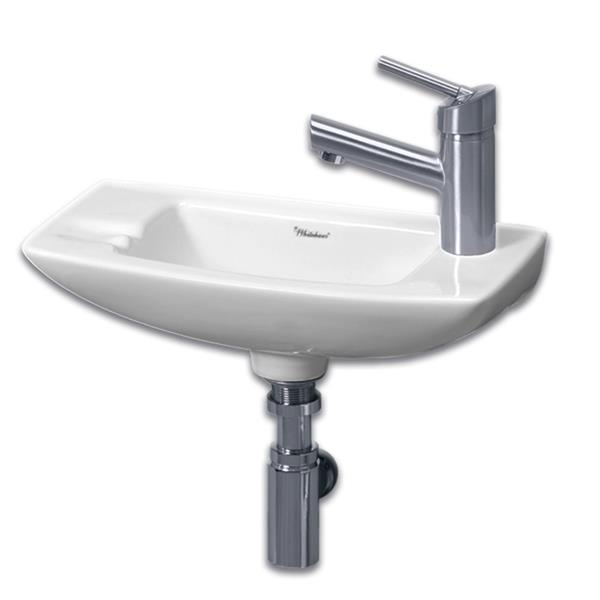 Whitehaus Collection Wall Mount Bathroom Sink - 17.5-in x 8-in x 5.5-in  - White