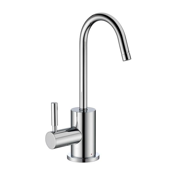 Whitehaus Collection Modern Hot Water Faucet - 1 Handle - Polished Chrome