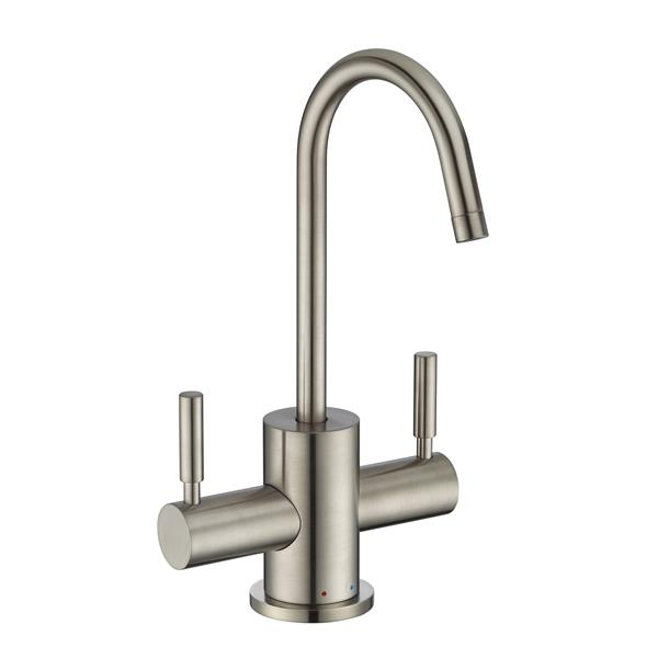 Whitehaus Collection Modern Kitchen Faucet - 2-Handle - Brushed Nickel