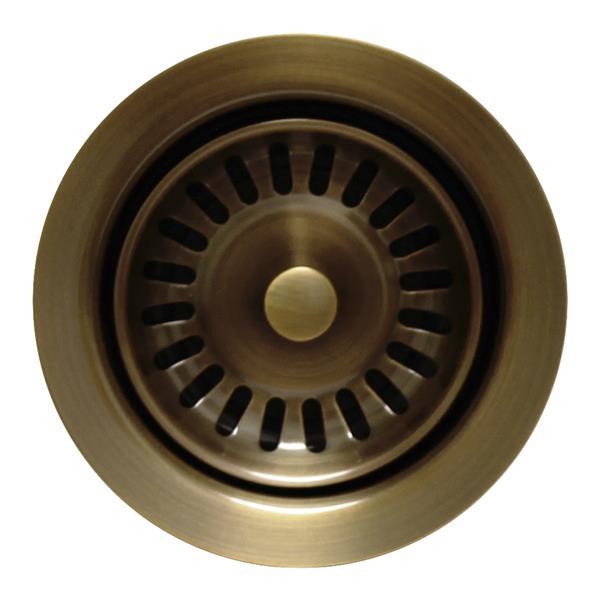 Whitehaus Collection Disposer Trim for Deep Fireclay Sinks - Antique Brass