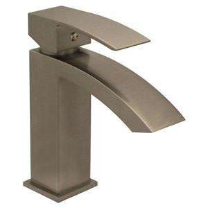 Whitehaus Collection Single Hole Bath Faucet with Pop-Up Drain - Brushed Nickel