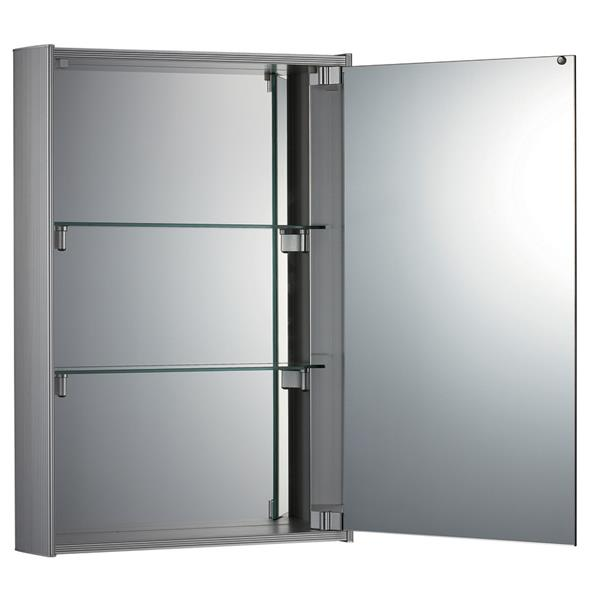 Whitehaus Collection Medicinehaus Single Door Medicine Cabinet - Aluminum