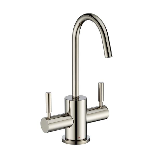 Whitehaus Collection Modern Kitchen Faucet - 2-Handle - Polished Nickel