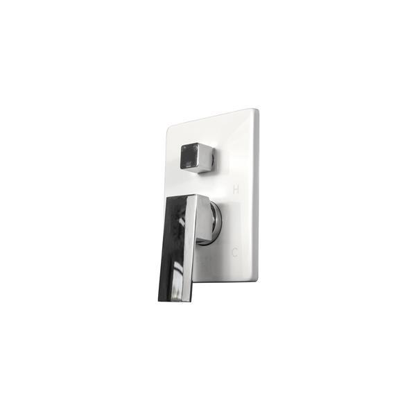 Sera Derby Shower System - Polished Chrome - White