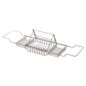 """Cheviot Bathtub Caddy with Reading Rack - 37 1/2"""" - Brushed Nickel"""