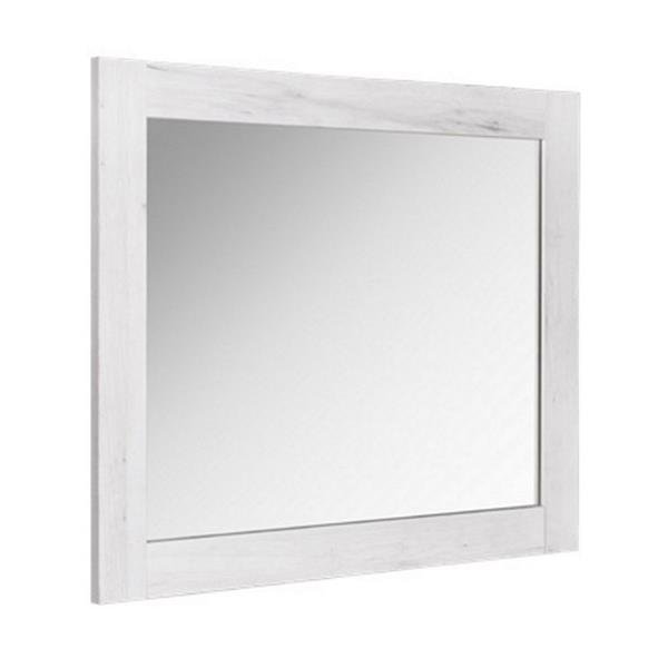 Luxo Marbre Bold Bathroom Mirror - 24-in x 29.5-in - Old White