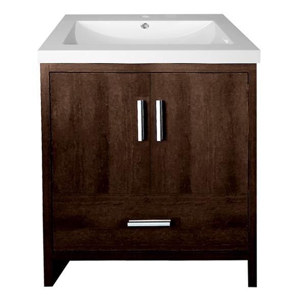 Meuble-lavabo Relax de Luxo Marbre, 24,5-in, brun café