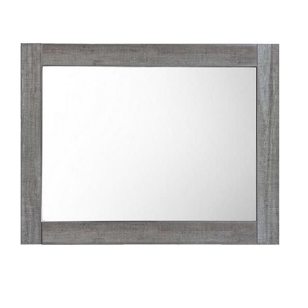 Luxo Marbre Relax Bathroom Mirror - 35.5-in x 29.5-in - Blue/Grey