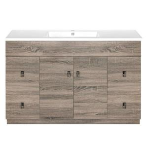 Luxo Marbre Eco Bathroom Vanity - 49-in - Wood Veneer Brown