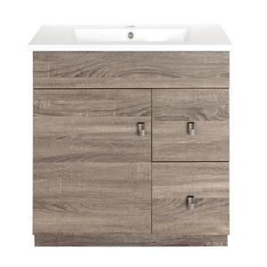 Luxo Marbre Eco Bathroom Vanity - 31-in - Wood Veneer Brown