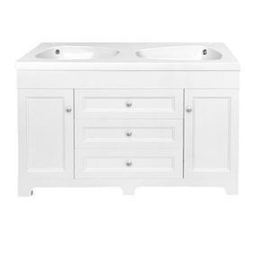 """Meuble-lavabo «Classic», 47,25"""", blanc laqué"""