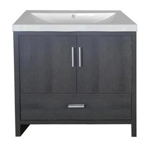 Luxo Marbre Smally Bathroom Vanity - 30.12-in - Charcoal