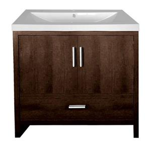 Luxo Marbre Smally Bathroom Vanity - 30.12-in - Coffee