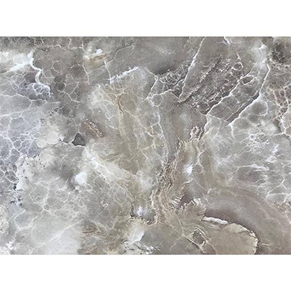 """Dessus de meuble-lavabo en quartz, 61"""" x 22"""", brun"""