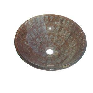 """Lavabo en verre, 16,5"""", écritures chinoises"""