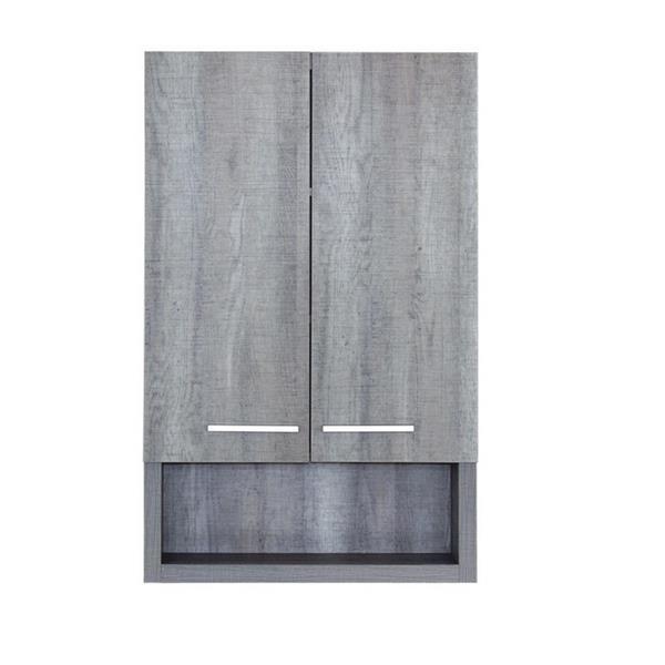 Luxo Marbre 2-Door Bathroom Cabinet - 22-in x 35.5-in - Blue/Grey