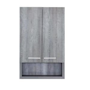 Luxo Marbre 2-Door Bathroom Cabinet - 22-in x 35.5-in - Blue/Grey