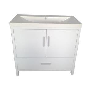 "Meuble-lavabo «Relax», 35,5"", blanc laqué"