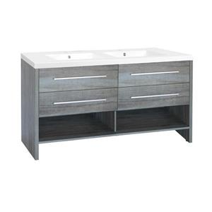 Luxo Marbre Relax Bathroom Vanity - 60.25-in  - Blue Gray