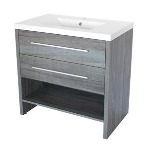 """Meuble-lavabo «Relax», 30,25"""", bleu gris"""