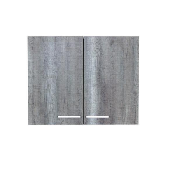 """Armoire dessus laveuse-sécheuse, 29,6"""" x 23,6"""", bleu/gris"""
