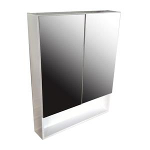Luxo Marbre Smally Mirror Medicine Cabinet - 27.5-in x 35.5-in - White