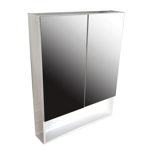 "Pharmacie avec miroir «Smally», 27,5"" x 35,5"", blanc laqué"