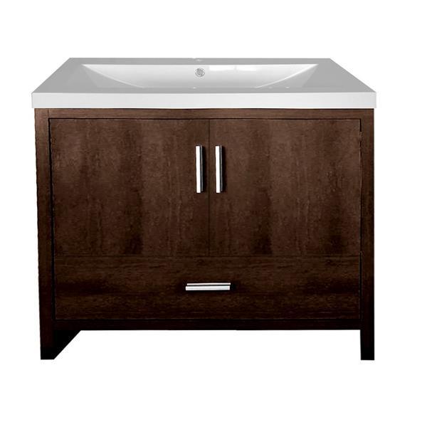 Luxo Marbre Smally Bathroom Vanity - 35.5-in - Coffee
