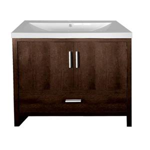 Luxo Marbre Smally Bathroom Vanity - 35.5-in - Coffee