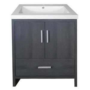Luxo Marbre Smally Bathroom Vanity - 24.5-in - Charcoal Grey