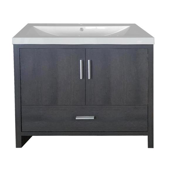 Luxo Marbre Smally Bathroom Vanity - 35.5-in - Charcoal Grey