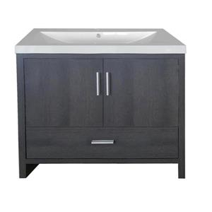Luxo Marbre Smally Bathroom Vanity - 35.5-in - Charcoal Grey
