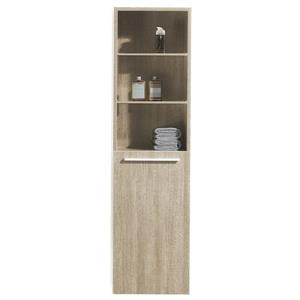 Luxo Marbre Bathroom Side Cabinet - 15.75-in x 59-in - Light Oak